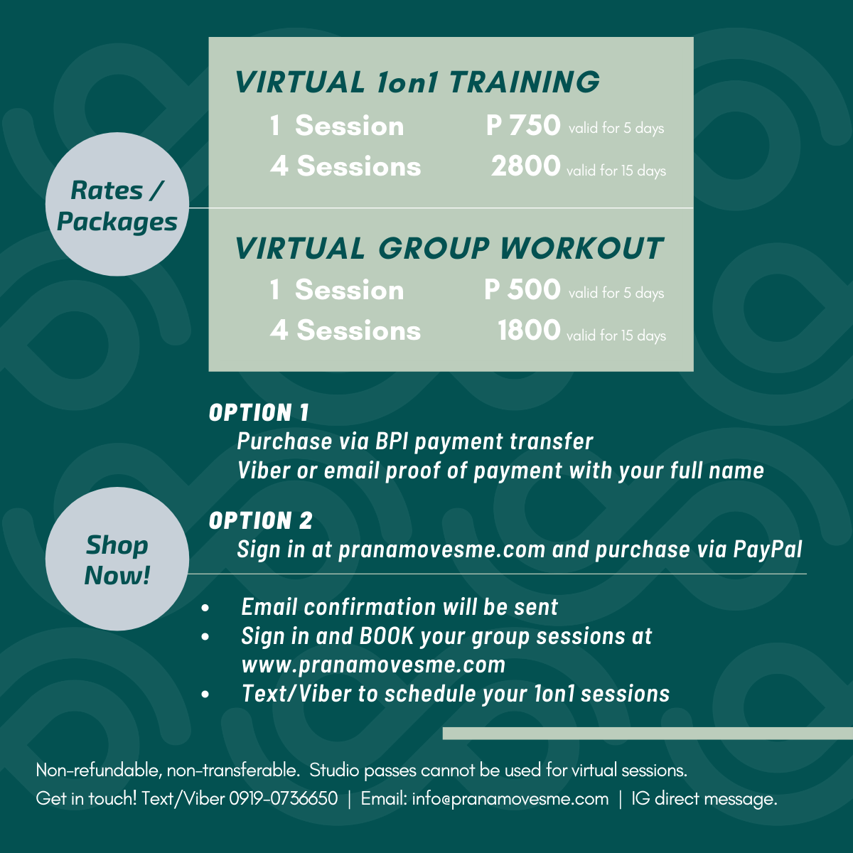 Virtual 1 on 1 Training